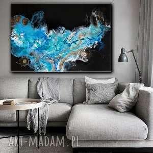 Prezent Galaktyka - obraz do salonu ręcznie malowany, obrazy, design, płótnie