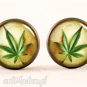 handmade kolczyki weed - kolczyki sztyfty