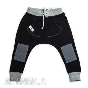 Spodnie baggy BLACK, łaty, baggy, sport, moda, unisex, dziecko