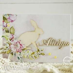 Kartka wielkanocna - ,wielkanoc,kartka,świąteczna,wiosenna,królik,