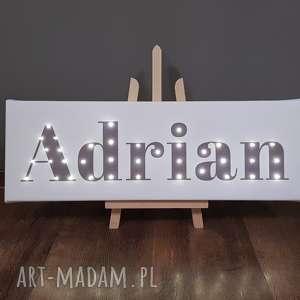 Prezent NAPIS LED Twoje Imię prezent dla niego obraz dekoracja lampa świecące litery