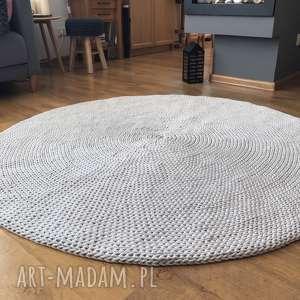 OKRĄGŁY DZIERGANY DYWAN BASIC 140 CM, dywan-pleciony, chodnik-dywanowy
