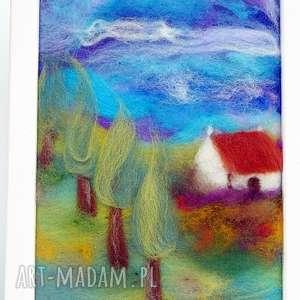 handmade obrazy domek wśród lawendy obraz z kolekcji mein süßes haus