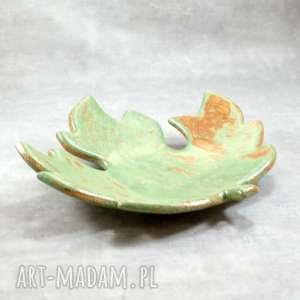 Miseczka liść klonu ceramika pracownia ako miska, liść, klon