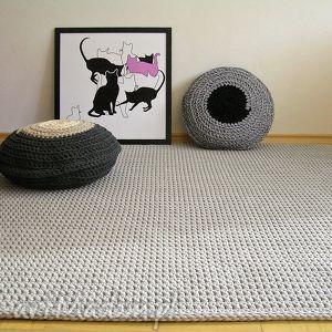 dywan minimalizm na zamówienie p arkadiusza, dywan, chodnik, bawełniany, dziergany