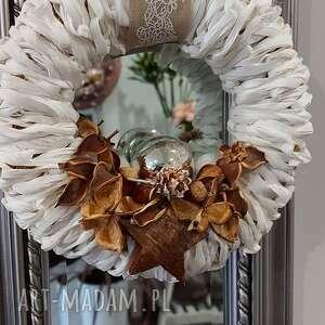 dekoracje wianek z natury, dekoracje, wianek, natura, rafia, święta, na drzwi