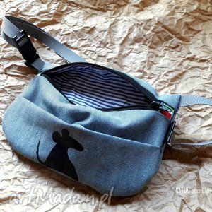 torebka biodrowa/nerka mouse ii, nerka, saszetka, mysz, torebka, jeansowa