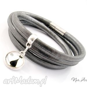 bransoletki bransoletka - graphite cat , rzemienie, syntetyczne, zawieszka, kot