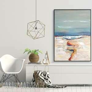 Obraz olejny abstrakcja do salonu biura sypialni 40x60 cm grot