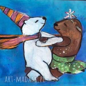 obrazek do pokoju dziecka, pastele a3, obrazek, misie, dekoracja, pastele, zwierzaki