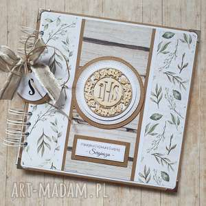 album - wyjątkowy prezent na komunię, chrzest, ślub w liściach, chrzest