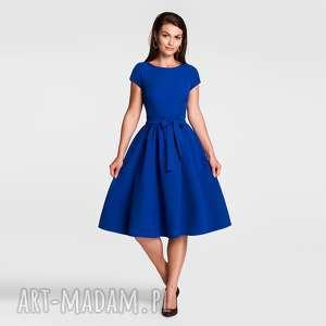 hand-made sukienki sukienka marie midi szafir