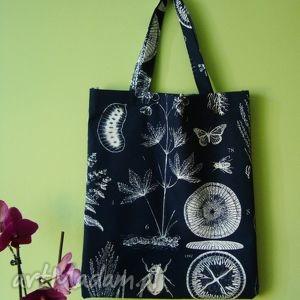 autorskie na zakupy ekologiczna granatowa torba