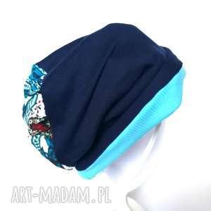 handmade czapki czapka dresówka boho tkanina folk dzianina