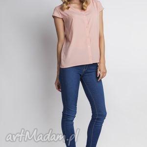 koszula z krótkim rękawem, k102 róż, koszulka, bluzka, różowa, elegancka