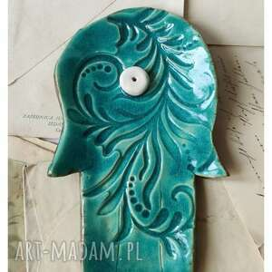 podstawka na kadzidełko turkusowa dłoń, ceramika, kadzidełko, podstawka, dłoń