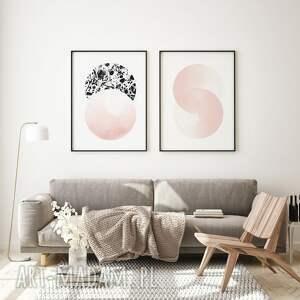 marble pink - zestaw plakatów 40x50 cm, różowe plakaty, marmur, plakat