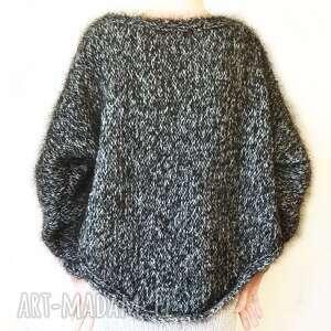 swetry sweter handmade oversize na drutach, sweter, ręcznie, robiony, drutach