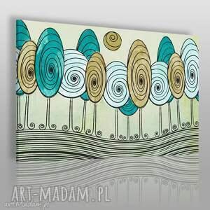 obrazy obraz na płótnie - drzewa wir abstrakcja 120x80 cm 71001, drzewa, dekoracja