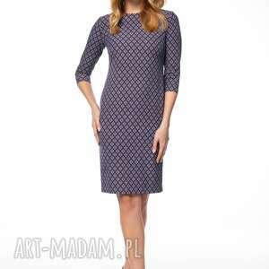 Sukienka danica sukienki pawel kuzik ołówkowa, wzorzysta