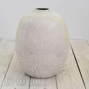 ceramika mula wazon ceramiczny w technice raku, artystyczna