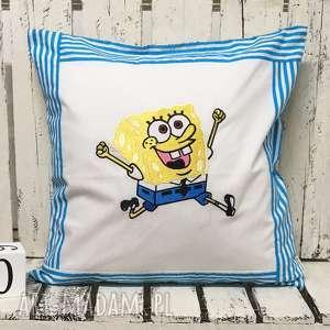 Poduszka z haftem 40x40cm SpongeBob, spongebob, kanciastoporty,