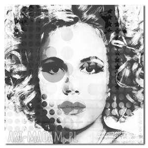 obrazy obraz xxl kobieta 16 - 80x80cm design na płótnie, kobieta, design