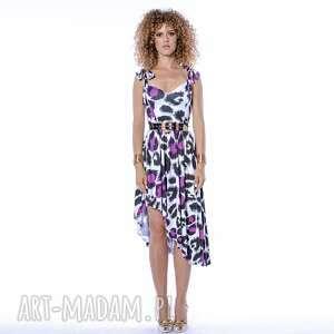 sukienki xenia - asymetryczna sukienka, luźna, asymetryczna, wygodna