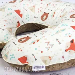 dla dziecka duża poduszka do karmienia lis indianin, poduszka, karmienie