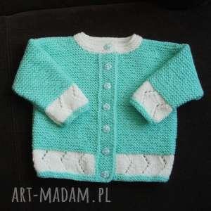 sweterek miętusek, sweterek, włóczka, rękodzieło, cieplutki, prezent, niemowlę