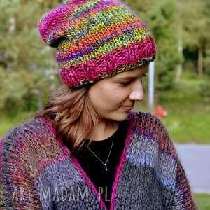 Czapka multicolors czapki the wool art czapka, multicolor