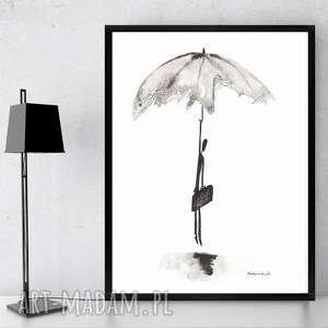 grafika nowoczesna czarno-biała minimalizm, obraz abstrakcyjny 21x30