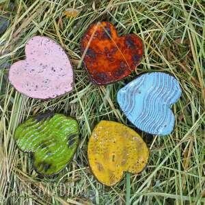 serca ceramiczne-magnesy oryginalny wzór i kolor 5 szt, magnesy, ceramiki