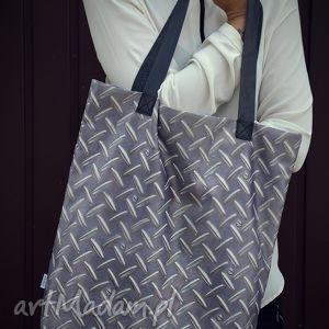 handmade na ramię torba mr. m blacha / uszy skóra naturalna