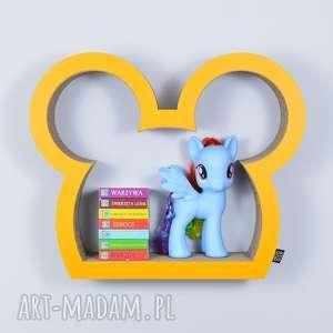 półka na książki zabawki myszka ecoono żółty - półka