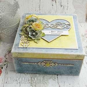 Prezent Pudełko ślubne - niezbędnik małżeński, scrapbooking, pudełko-na-ślub