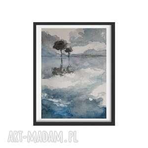 drzewa-akwarela formatu a5, akwarela, drzewa