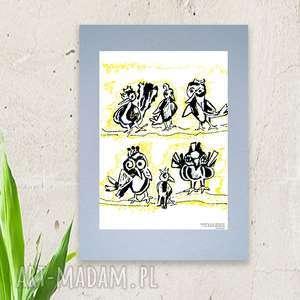 plakat z ptaszkami,plakat ptakami,fajny do pokoju dziewczynki,grafika