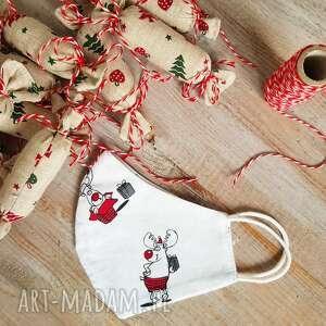 maseczka bawełniana świąteczna dzięcięca, święta, czas świąt, świątecznie