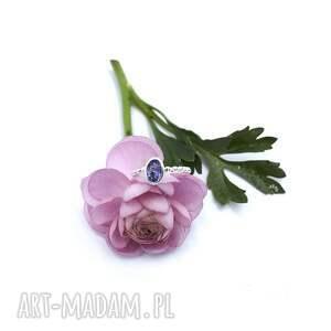 blueberry charm, iolit, pierścionek, srebrny, delikatny, klasyczny, aniagrys