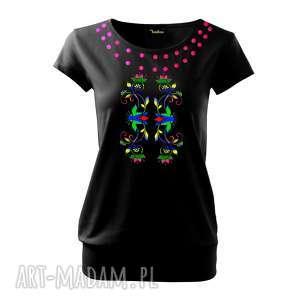 unikalna bawełniana koszulka, bluzka z bawełny na prezent ręcznie malowana