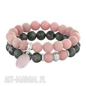 powder pink & steel - kwarc, opal