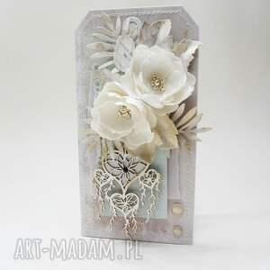 Z kwiatami - w pudełku, pudełko, ślub, życzenia, gratulacje