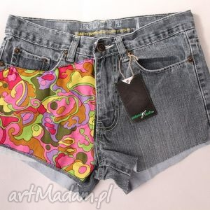 spodenki szorty z wysokim stanem, spodenki, szorty, vintage, diy, jeans, denim