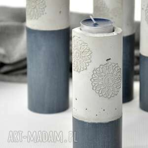 świecznik cement - drewno boho, świecznik, cement, drewno, dekoracja, swieczka