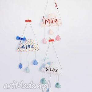 deszczowa chmurka Alex - ,mobil,chmurka,deszczowachmurka,alex,personalizowana,zawieszka,