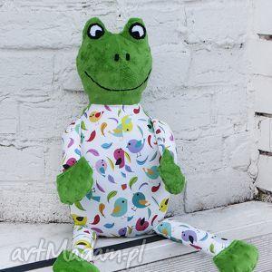 pan Żaba - żaba, maskotka, handmade, nietypowe, minky, zabawka