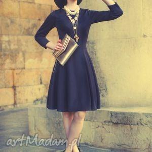 sukienka zuza midi czarna - sukienka, wieczorowa, elegancka, rozkloszowana, wizytowa