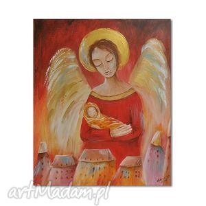 obrazy anioł od dzieci, obraz na płótnie, obraz, anioł, dziecko, anioły