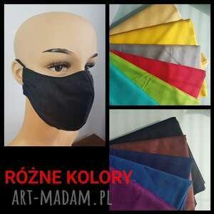 maseczka jednolita różne kolory, maseczki kolorowe, maska antysmogowa